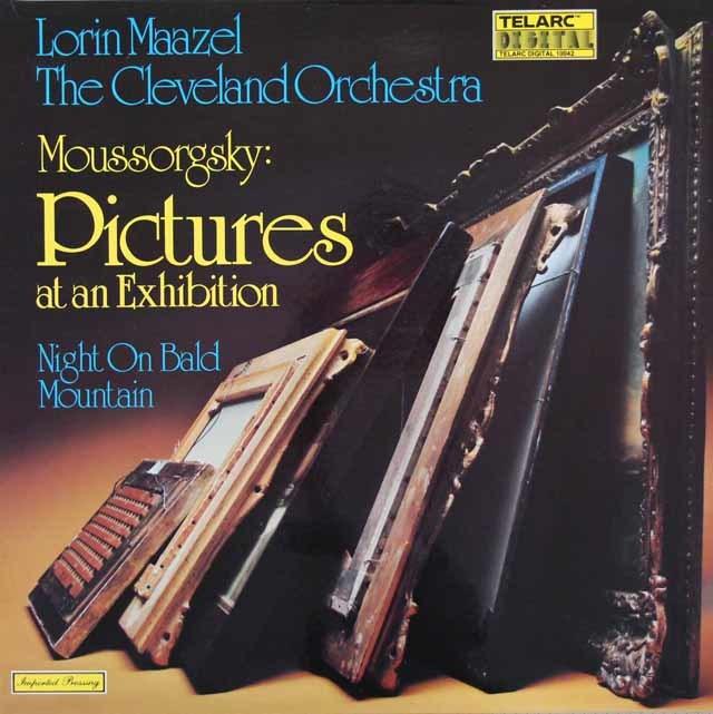 マゼールのムソルグスキー/「展覧会の絵」ほか 独TELARC 3206 LP レコード