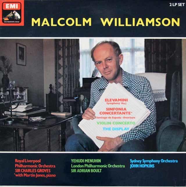 メニューインのウィリアムソン/ヴァイオリン協奏曲ほか 英EMI 3206 LP レコード