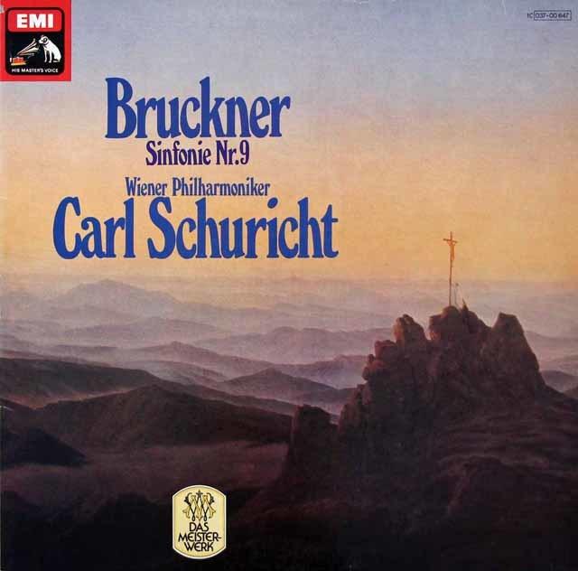 シューリヒトのブルックナー/交響曲第9番 独EMI 3206 LP レコード