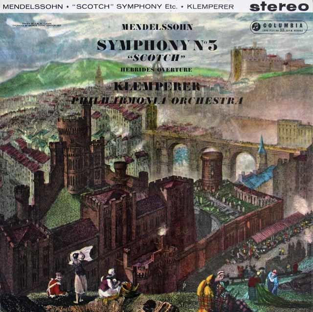 クレンペラーのメンデルスゾーン/交響曲第3番「スコットランド」ほか 英Columbia 3206 LP レコード