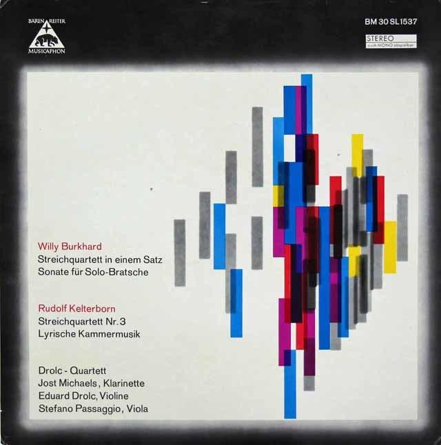 ドロルツ四重奏団らのブルクハルト/1楽章の弦楽四重奏曲ほか 独Baerenreiter Musicaphon 3206 LP レコード
