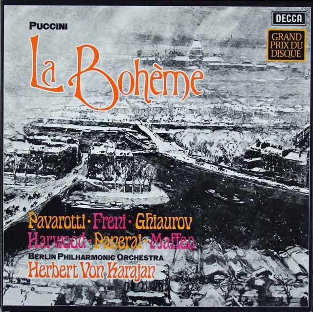 カラヤンのプッチーニ/「ボエーム」全曲 独DECCA 3206 LP レコード