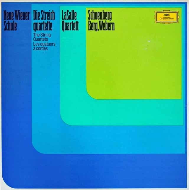ラサール四重奏団の新ウィーン楽派の弦楽四重奏曲集 独DGG 3206 LP レコード