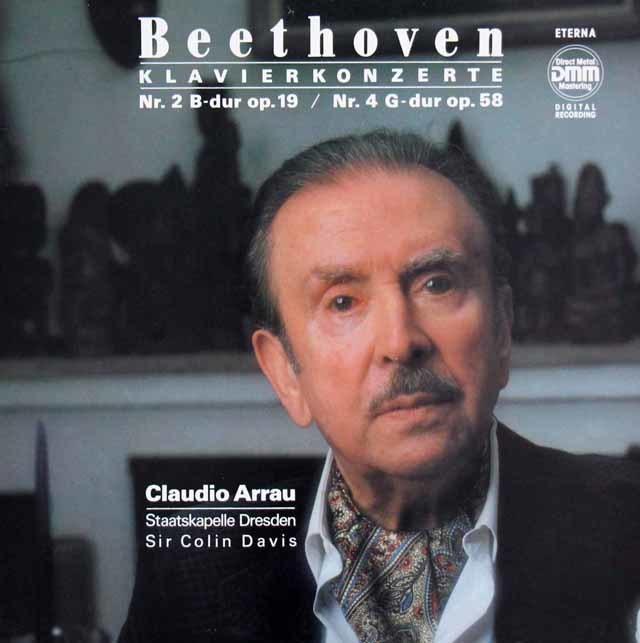 アラウ&デイヴィスのベートーヴェン/ピアノ協奏曲第2&4番 独ETERNA 3207 LP レコード