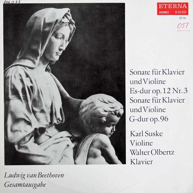 ズスケ&オルベルツのベートーヴェン/ヴァイオリンソナタ第3&10番 独ETERNA 3207 LP レコード