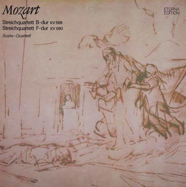 ズスケ四重奏団のモーツァルト/弦楽四重奏曲第22、23番 独ETERNA 3207 LP レコード