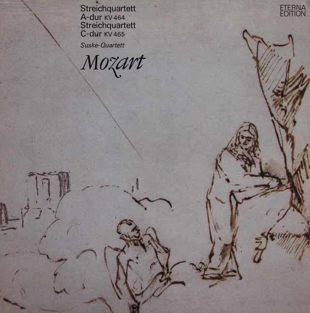 ズスケ四重奏団のモーツァルト/弦楽四重奏曲第18番&第19番「不協和音」 独ETERNA 3207 LP レコード