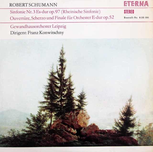 コンヴィチュニーのシューマン/交響曲第3番「ライン」ほか  独ETERNA 3207 LP レコード