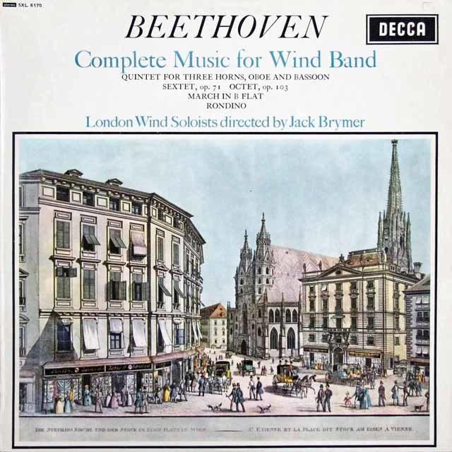 【オリジナル盤】 ブライマーのベートーヴェン/管楽器のための音楽全集  英DECCA  3207 LP レコード