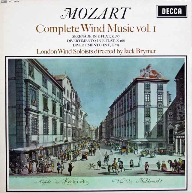 ブライマーのモーツァルト/管楽器のための音楽集 vol.1  英DECCA  3207 LP レコード