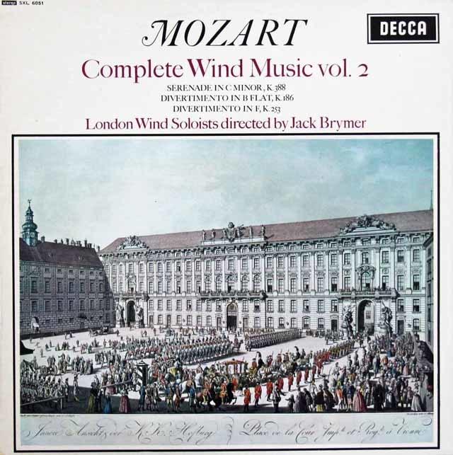 ブライマーのモーツァルト/管楽器のための音楽集 vol.2  英DECCA  3207 LP レコード