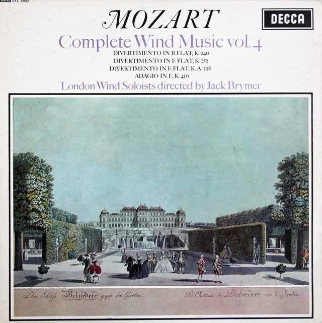 ブライマーのモーツァルト/管楽器のための音楽集 vol.4  英DECCA  3207 LP レコード