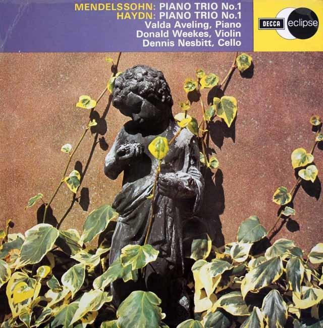 アヴェリング&ウィークス&ネスビットのメンデルスゾーン/ピアノ三重奏曲第1番ほか 英DECCA 3207 LP レコード