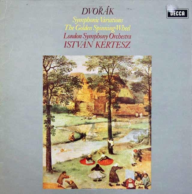 【オリジナル盤】ケルテスのドヴォルザーク/交響的変奏曲ほか 英DECCA 3207 LP レコード