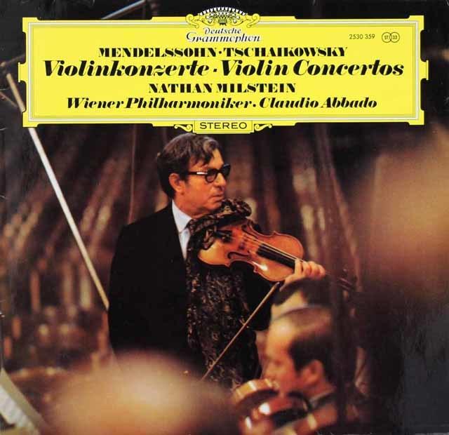 ミルシュタイン&アバドのメンデルスゾーン&チャイコフスキー/ヴァイオリン協奏曲  独DGG 3207 LP レコード