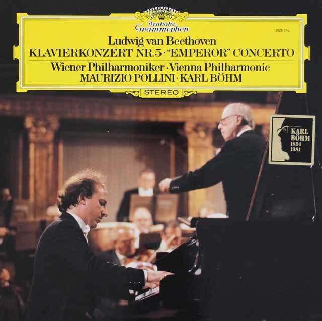 ポリーニ&ベームのベートーヴェン/ピアノ協奏曲第5番「皇帝」 独DGG 3207 LP レコード