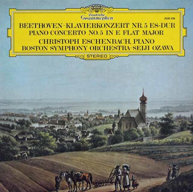 エッシェンバッハ&小澤のベートーヴェン/ピアノ協奏曲第5番「皇帝」 独DGG 3207 LP レコード