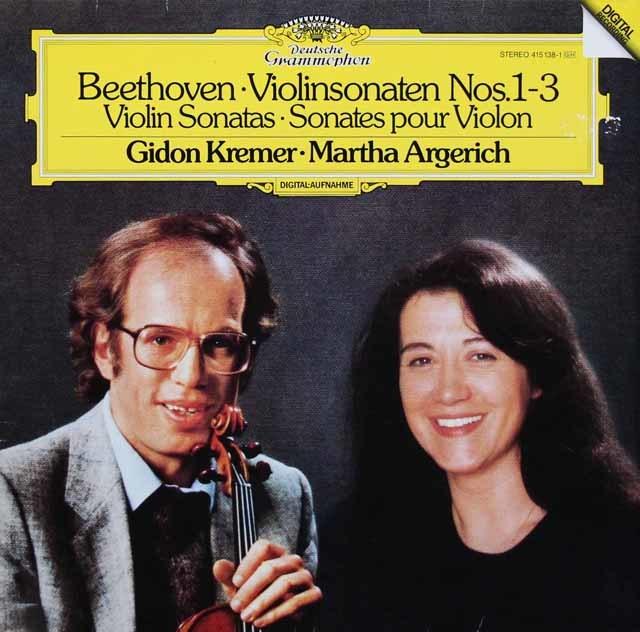 クレーメル&アルゲリッチのベートーヴェン/ヴァイオリンソナタ第1、2、3番 独DGG 3207 LP レコード