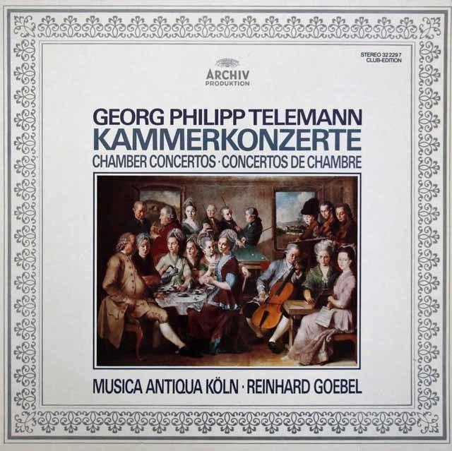 ゲーベル&ムジカ・アンティクヮ・ケルンのテレマン/室内協奏曲 独ARCHIV 3207 LP レコード