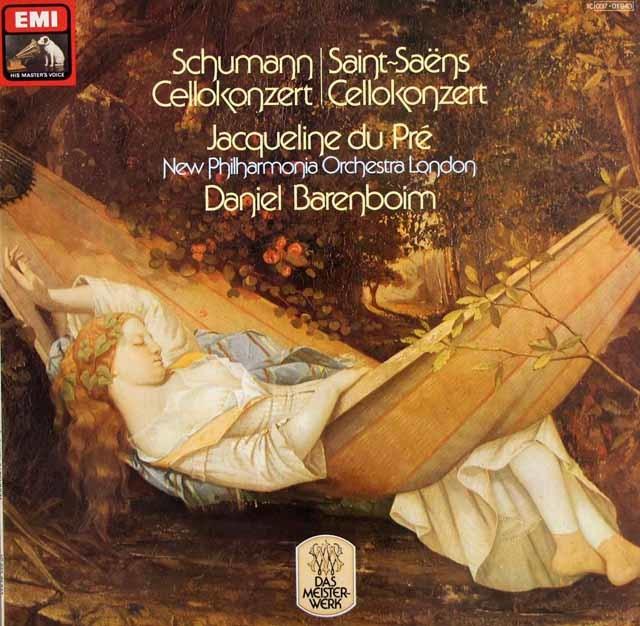 デュ・プレ&バレンボイムのシューマン/チェロ協奏曲ほか 独EMI 3207 LP レコード