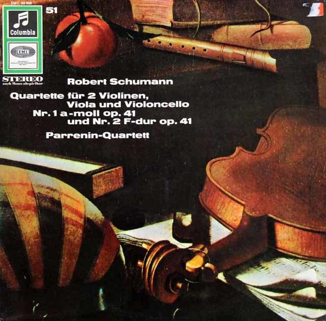 パレナン四重奏団のシューマン/弦楽四重奏曲第1&2番 独COLUMBIA 3207 LP レコード