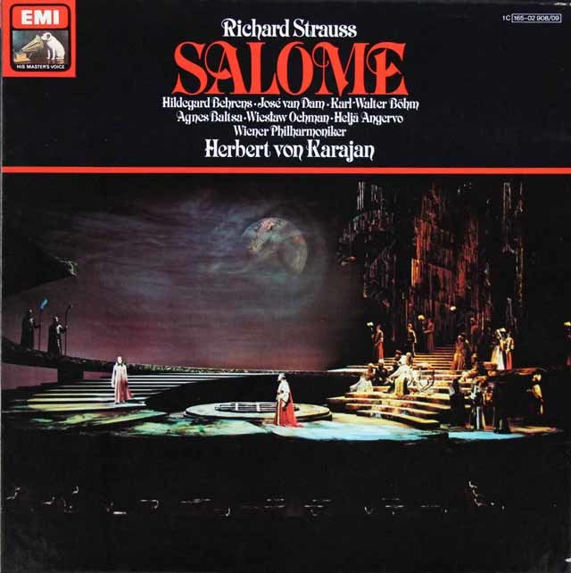 カラヤンのR.シュトラウス/「サロメ」 独EMI 3207 LP レコード