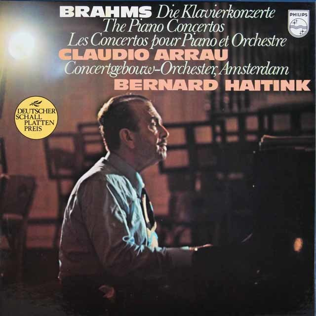 アラウ&ハイティンクのブラームス/ピアノ協奏曲第1、2番 蘭PHILIPS 3207 LP レコード