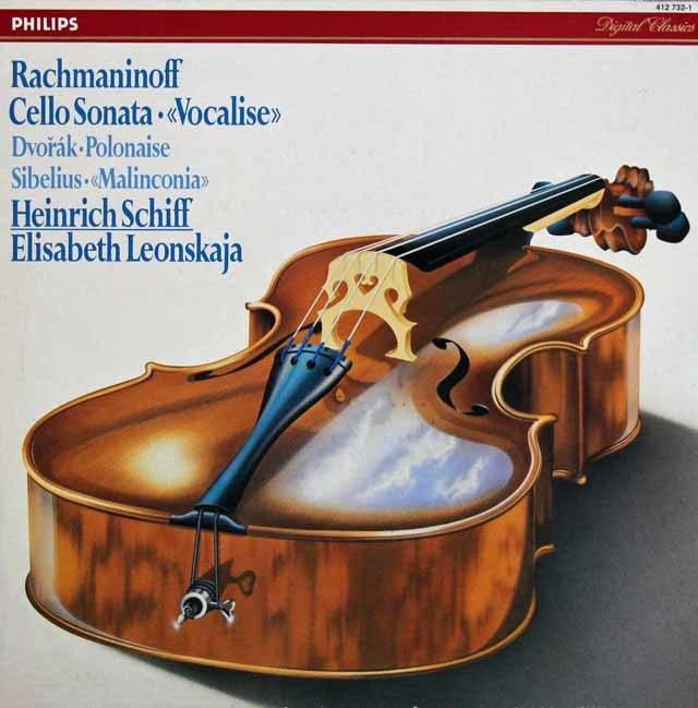 シフ&レオンスカヤのラフマニノフ/チェロソナタほか  蘭PHILIPS 3207 LP レコード