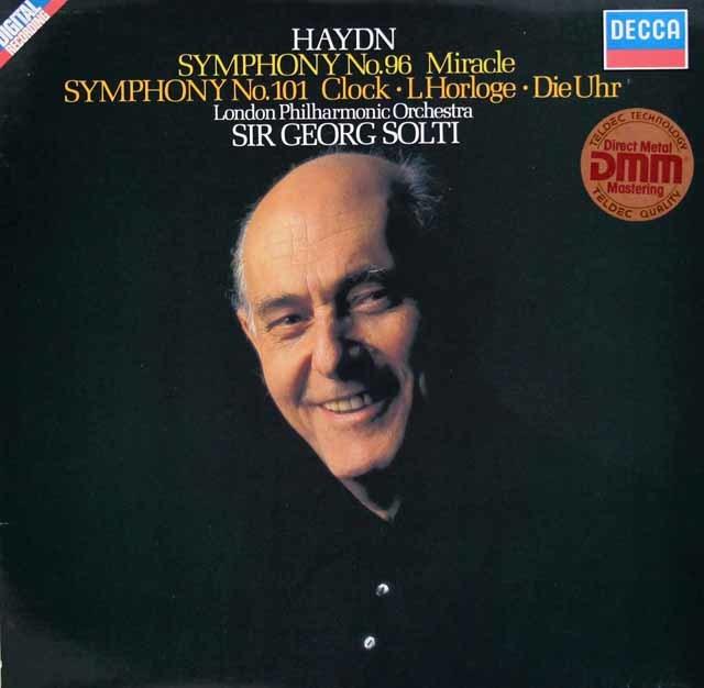 ショルティのハイドン/交響曲第96番「奇蹟」&第101番「時計」 独DECCA 3207 LP レコード
