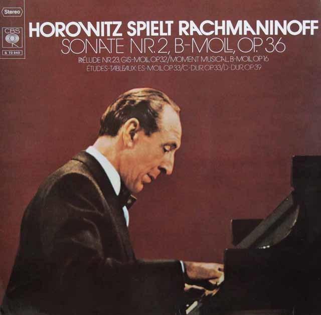 ホロヴィッツのラフマニノフ/ピアノソナタ第2番ほか 独CBS 3207 LP レコード