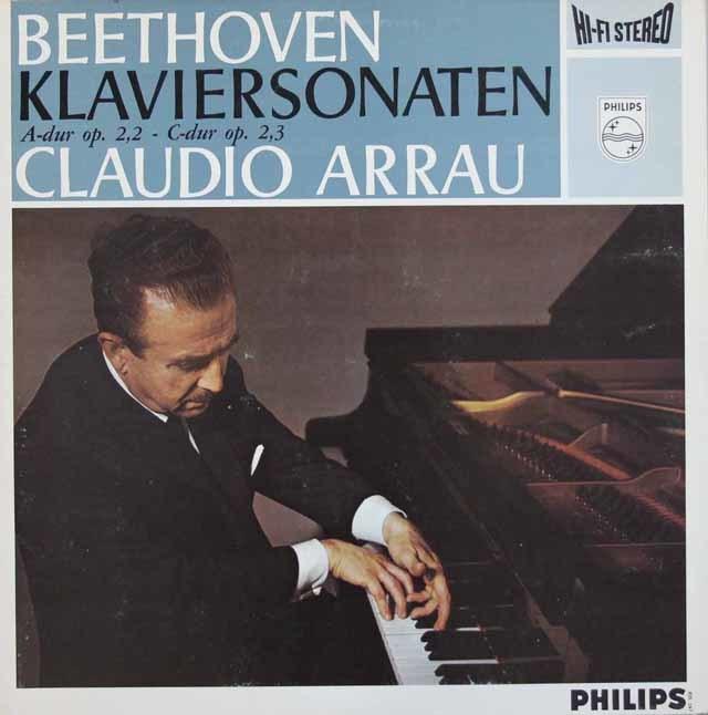 アラウのベートーヴェン/ピアノソナタ第2、3番 蘭PHILIPS 3207 LP レコード