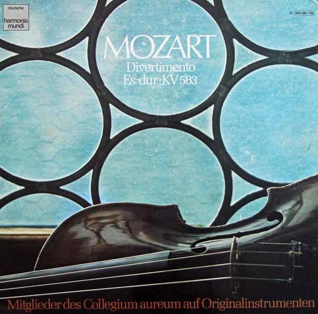 コレギウム・アウレウムのモーツァルト/ディヴェルティメントK563 独HM 3207 LP レコード