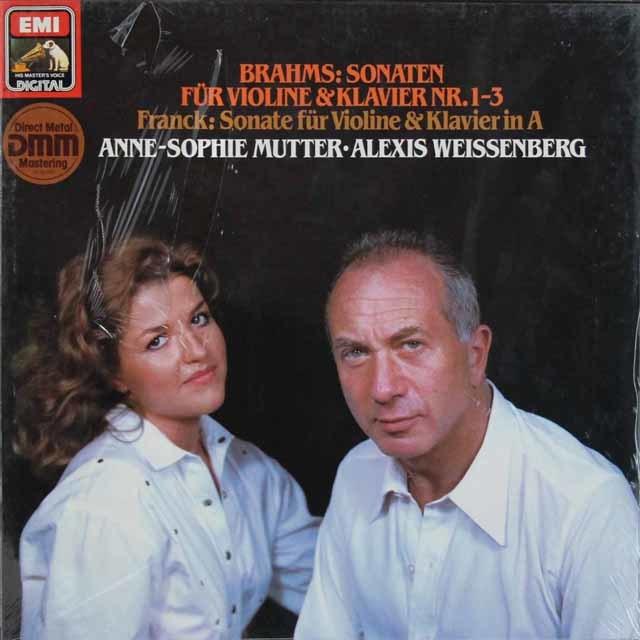 【未開封】 ムター&ワイセンベルクのブラームス/ヴァイオリンソナタ集 独EMI 3207 LP レコード穂\流