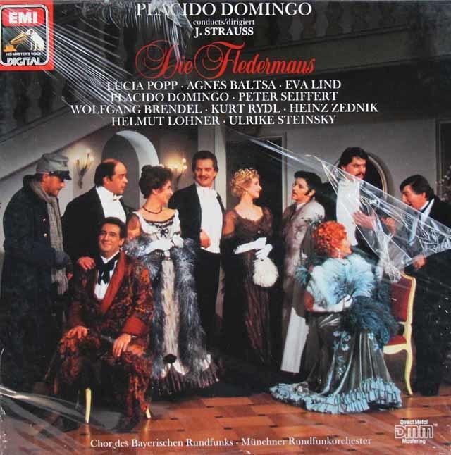 【未開封】 ドミンゴのJ.シュトラウス2世/「こうもり」全曲 独EMI 3207 LP レコード