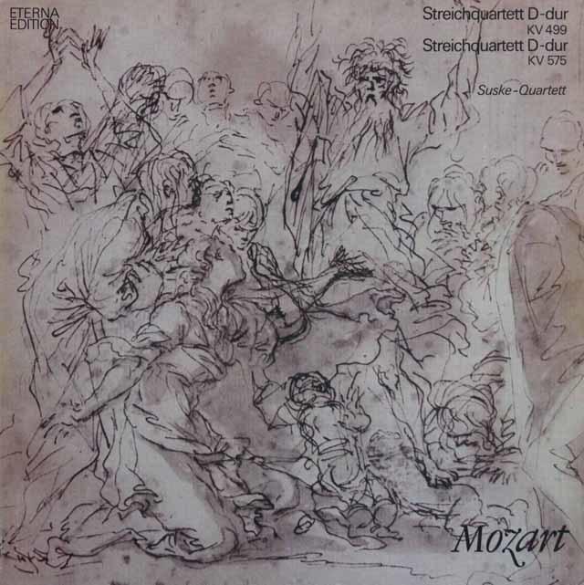 ズスケ四重奏団のモーツァルト/弦楽四重奏曲第20番&第21番   独ETERNA 3207 LP レコード