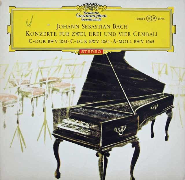 【赤ステレオ/オリジナル盤】マーロー、クック、ザイデンベルクらのバッハ/2台、3台、4台のチェンバロのための協奏曲 独DGG 3208 LP レコード