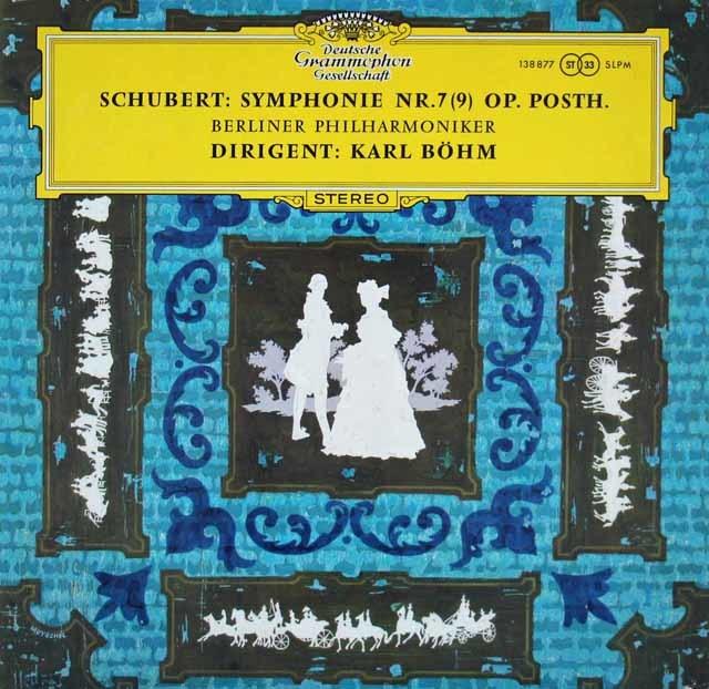 ベームのシューベルト/交響曲第9番「グレイト」 独DGG 3208 LP レコード