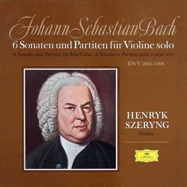シェリングのバッハ/無伴奏ヴァイオリンソナタとパルティータ全曲 独DGG 3208 LP レコード