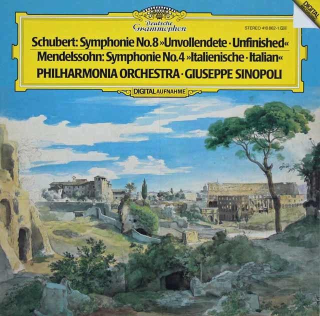 シノーポリのシューベルト/交響曲第8番「未完成」ほか 独DGG 3208 LP レコード
