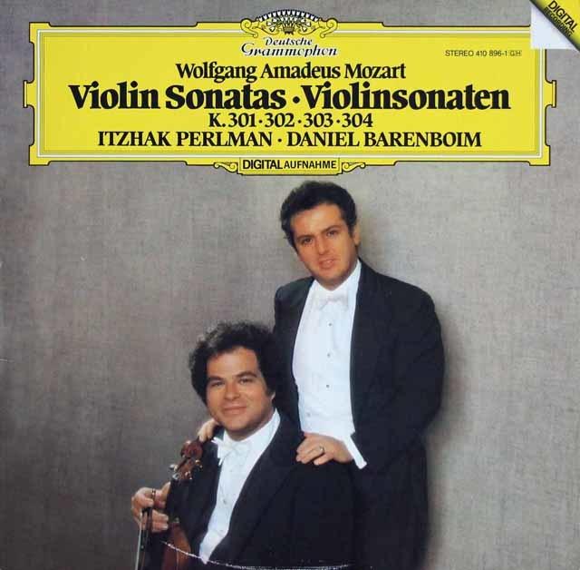 パールマン&バレンボイムのモーツァルト/ヴァイオリン・ソナタ第18~21番 独DGG 3208 LP レコード