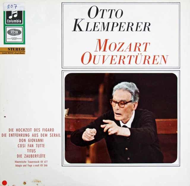 クレンペラーのモーツァルト/序曲集 独Columbia 3208 LP レコード