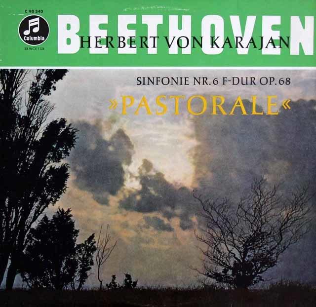 カラヤンのベートーヴェン/交響曲第6番「田園」 独Columbia 3208 LP レコード