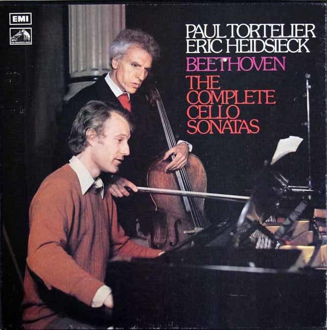 【オリジナル盤】 トルトゥリエ & ハイドシェックのベートーヴェン/チェロソナタ全集 英EMI 3208 LP レコード