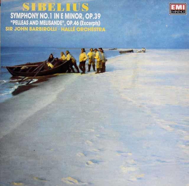 バルビローリのシベリウス/交響曲第1番ほか 英EMI 3208 LP レコード