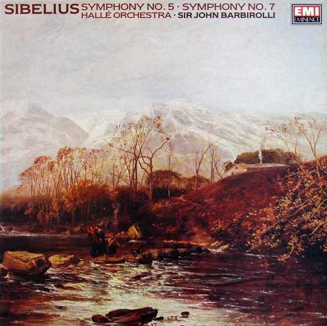 バルビローリのシベリウス/交響曲第5 & 7番 英EMI 3208 LP レコード