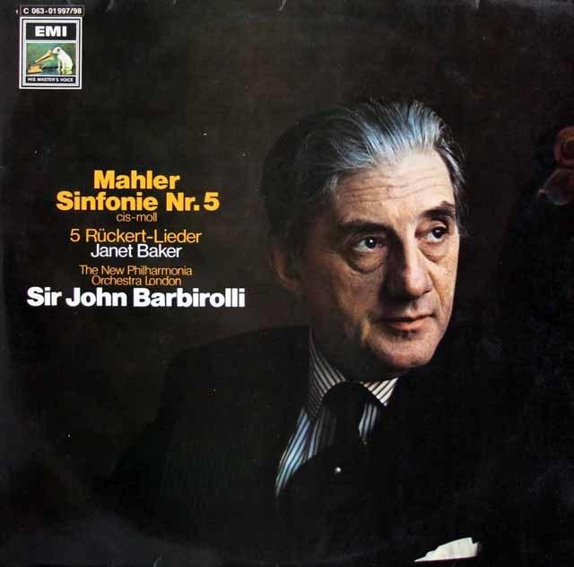 バルビローリのマーラー/交響曲第5番 独EMI 3208 LP レコード