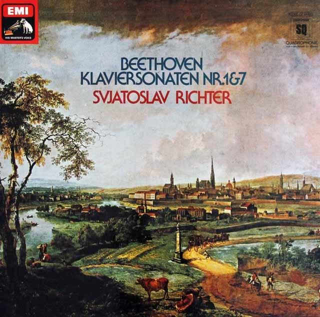 リヒテルのベートーヴェン/ピアノソナタ第1&7番 独EMI  3208 LP レコード