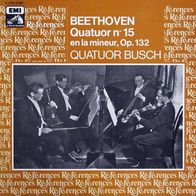 ブッシュ四重奏団のベートーヴェン/弦楽四重奏曲第15番 仏EMI 3208 LP レコード