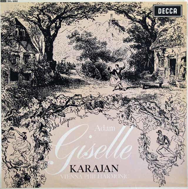【オリジナル盤】カラヤンのアダン/「ジゼル」 英DECCA 3208 LP レコード