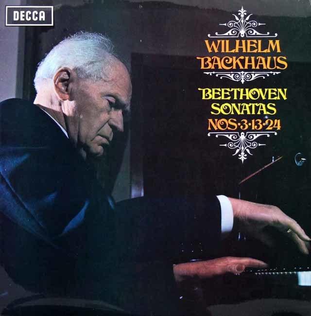 【オリジナル盤】バックハウスのベートーヴェン/ピアノソナタ第3、13、24番 英DECCA 3208 LP レコード